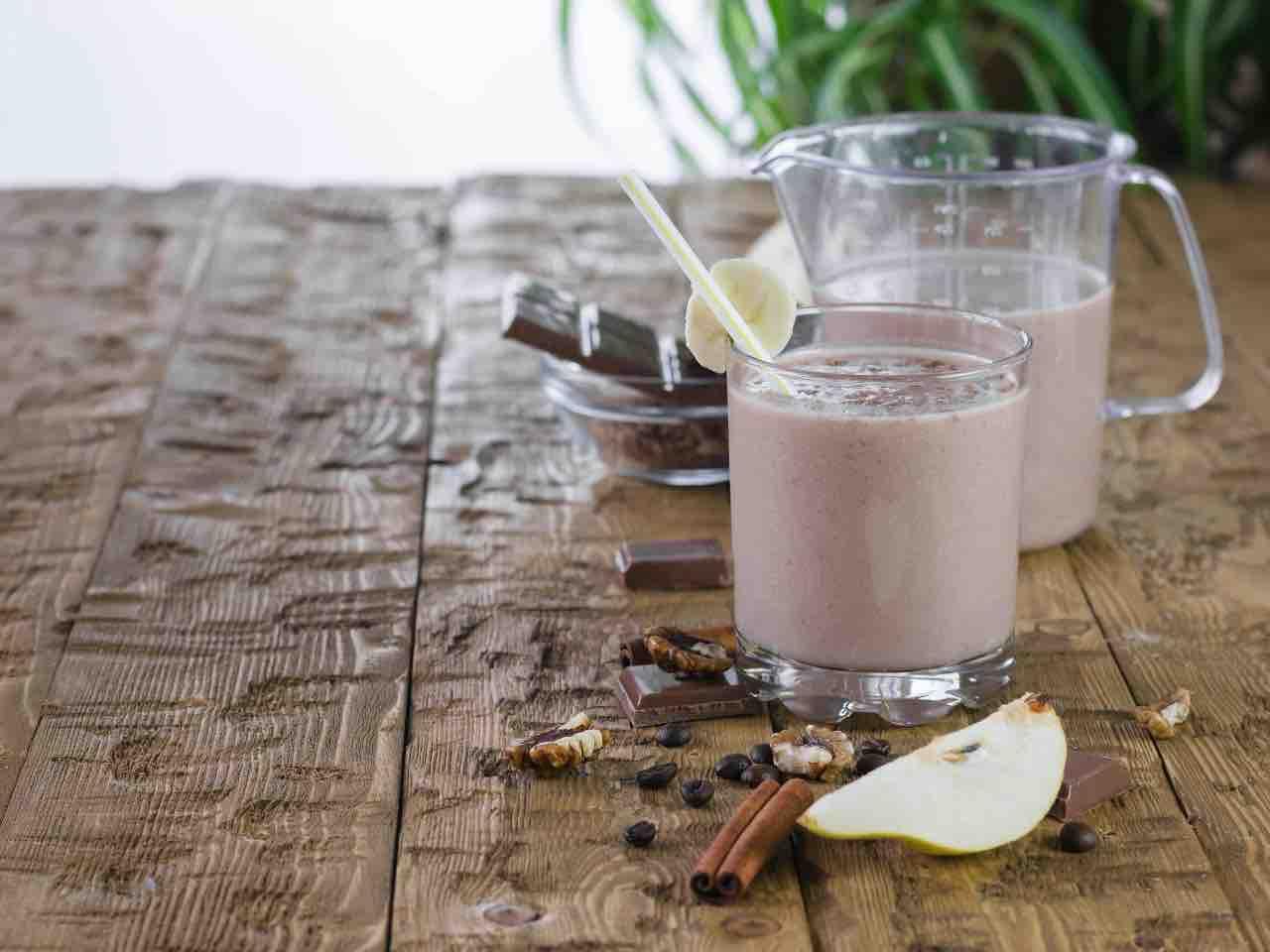 frappè pera e cacao