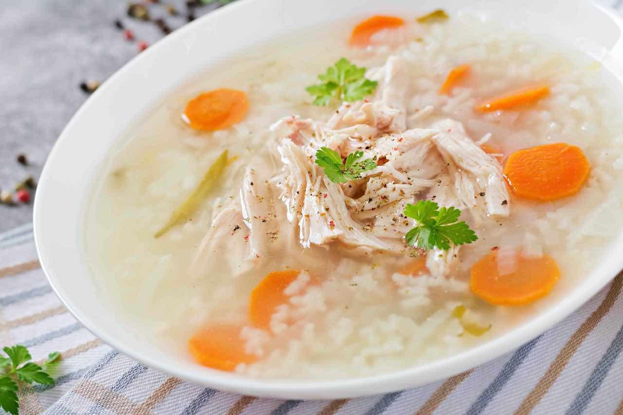 minestra pollo risp carote