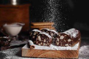 salame di cioccolato zucchero a velo
