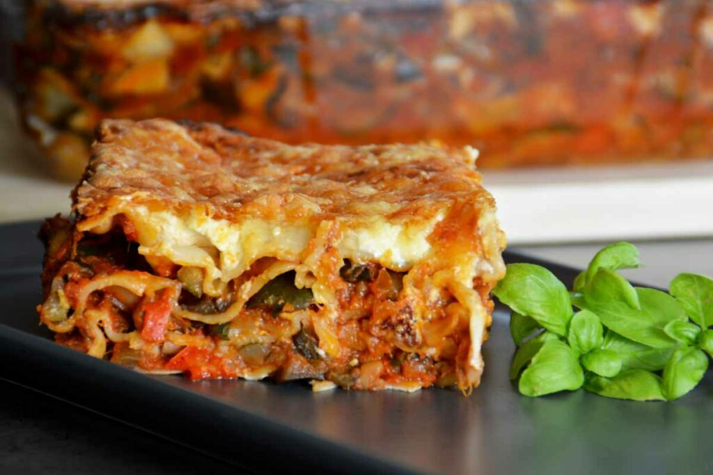 Lasagna con ragù di verdure