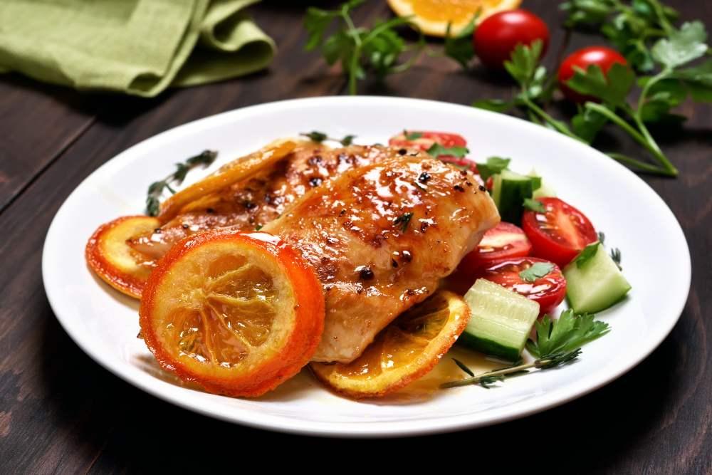 Filetti di petto di pollo al profumo di agrumi