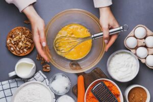 Preparazione torta arancia