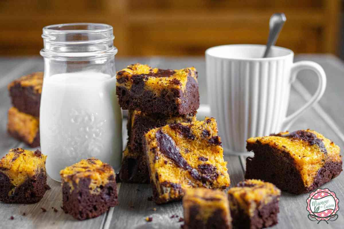 brownies zucca e coiccolato