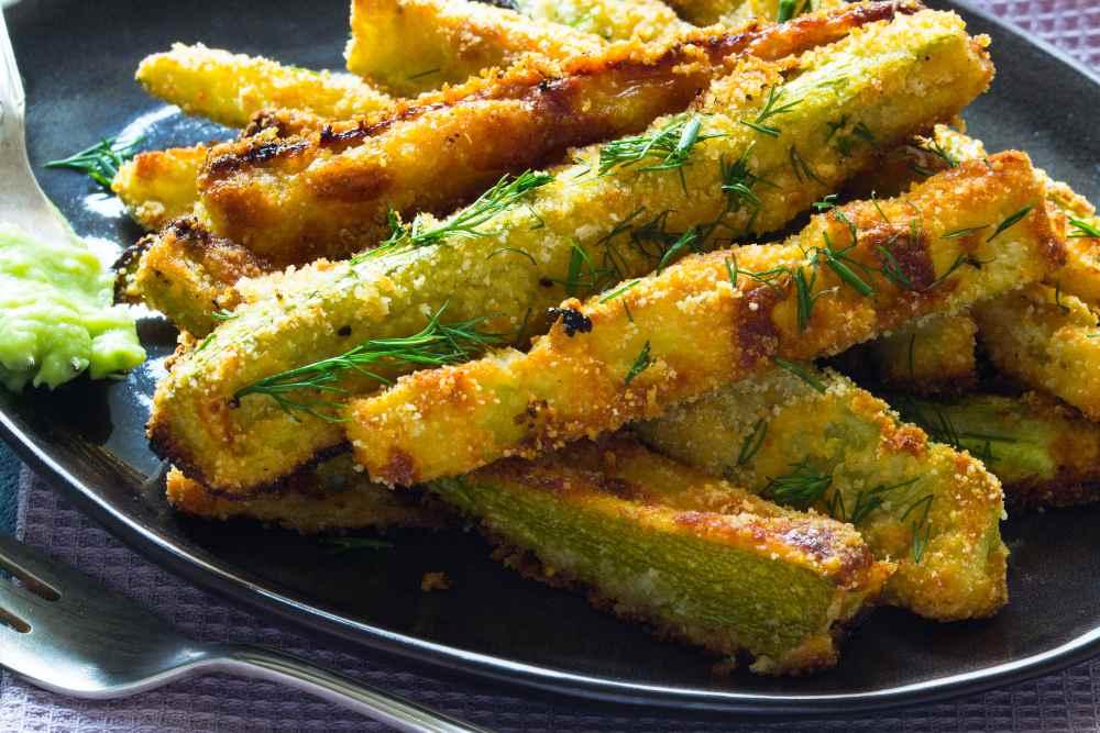 Stick di zucchine al forno croccanti e veloci