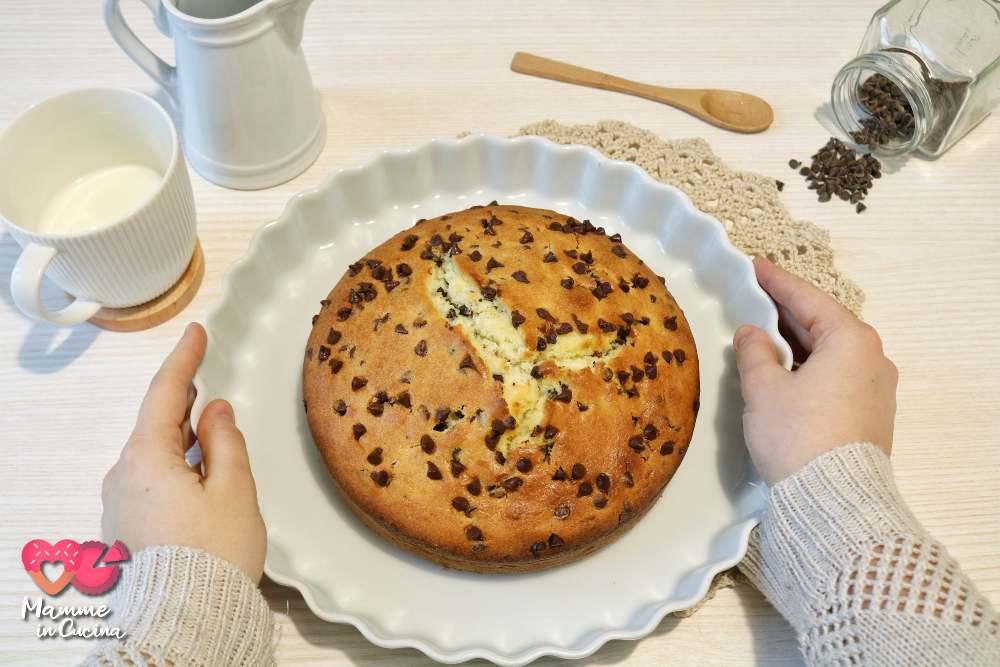 Torta morbida al mascarpone e gocce di cioccolato