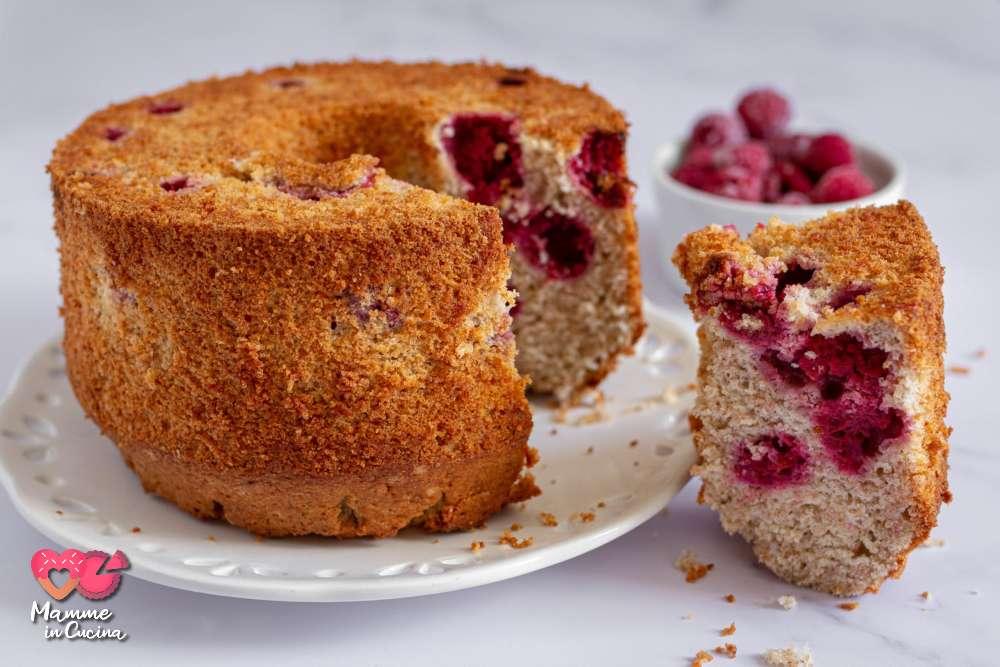 chiffon cake lamponi