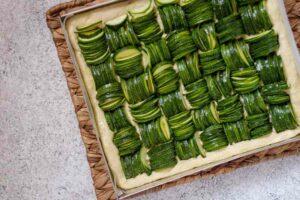 focaccia zucchine cruda