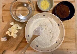 Ingredienti brioche al cacao