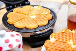 waffle sulla piastra