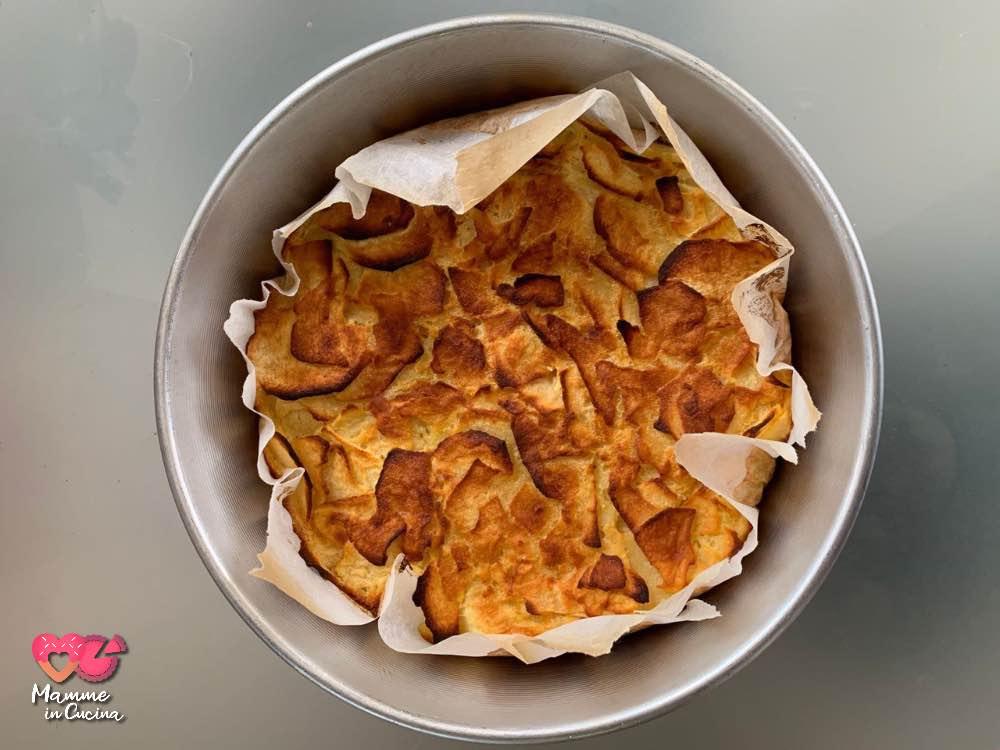 Frittata dolce di mele, leggera e cremosa