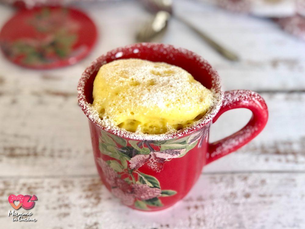 Mug cake alla vaniglia pronta in 5 minuti!