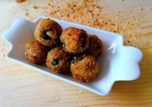 ricetta polpette di ceci e olive