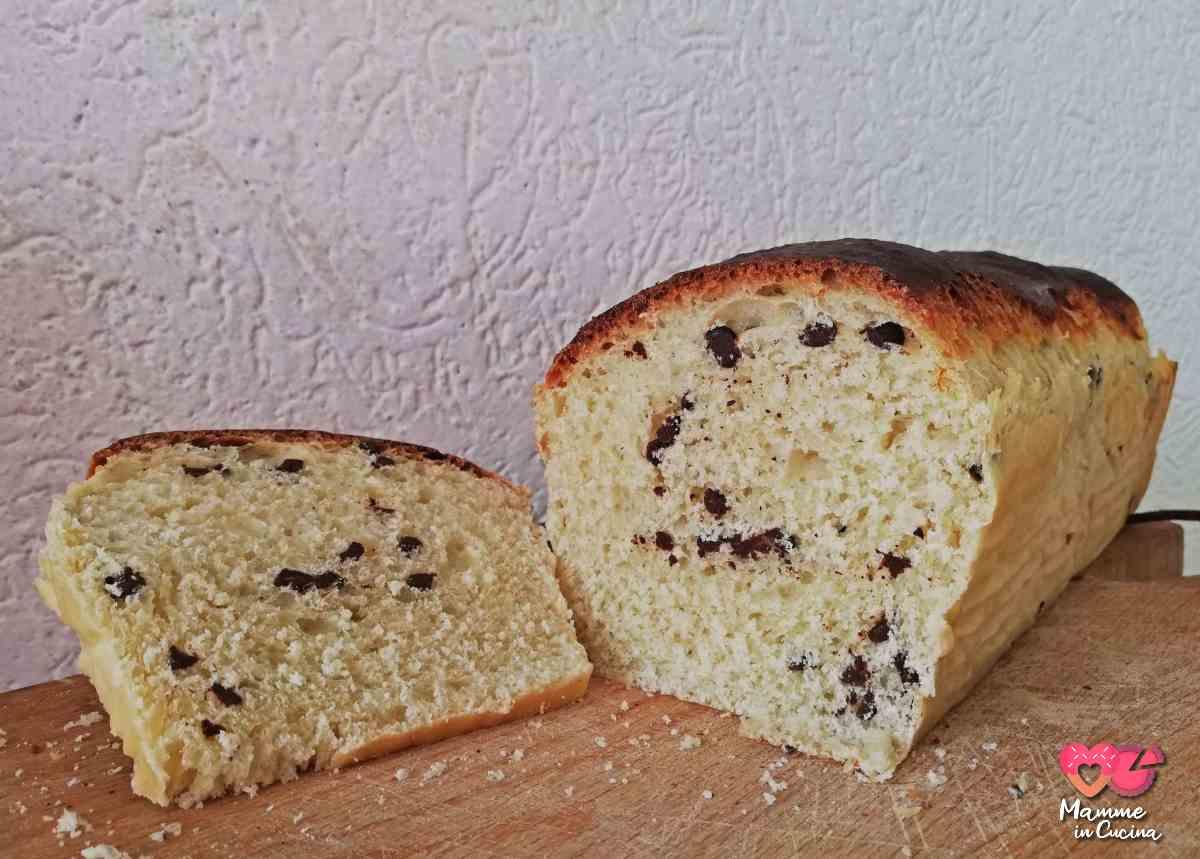 Pan brioche con gocce di cioccolata