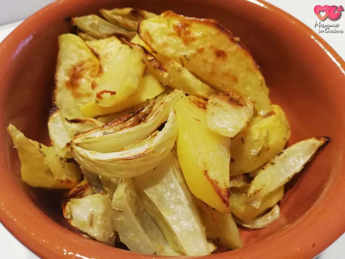 patate e finocchi al forno
