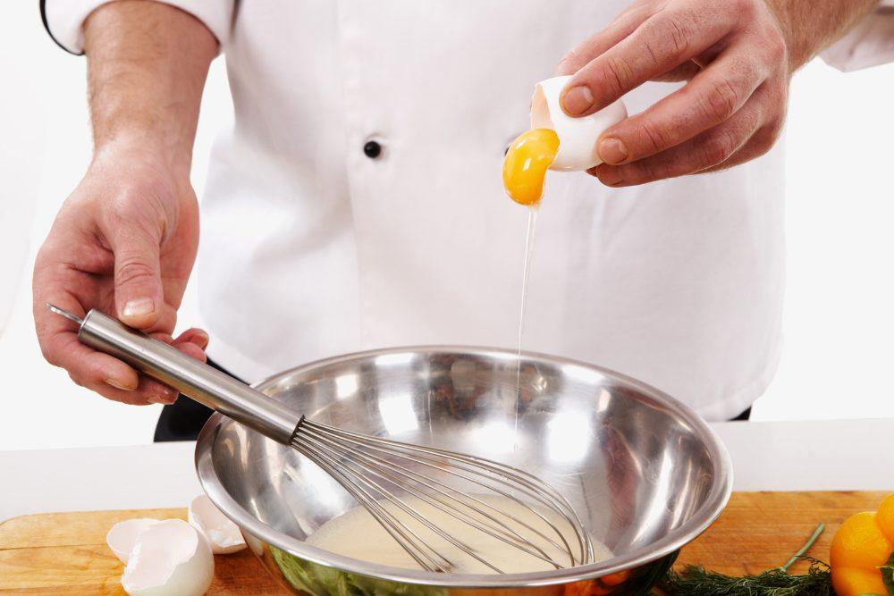 preparazione omelette