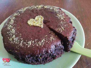 torta vegana cioccolato e pistacchio