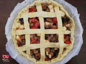 torta salata prima della cottura