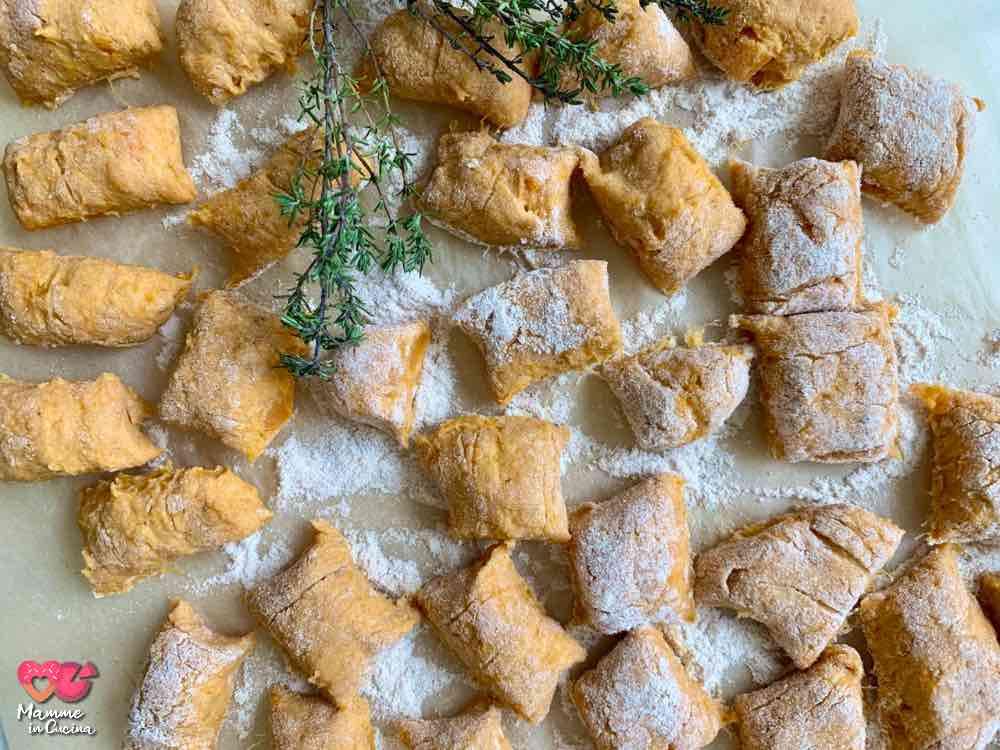 Gnocchetti di patate dolci semplici