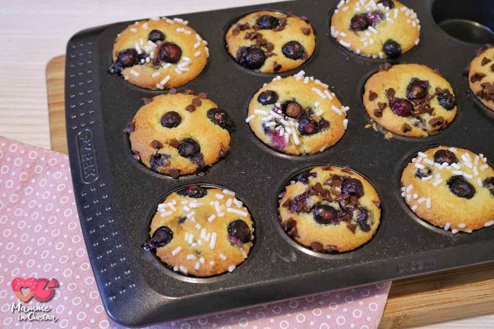 Muffin cocco e mirtilli