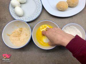 Uova impanate