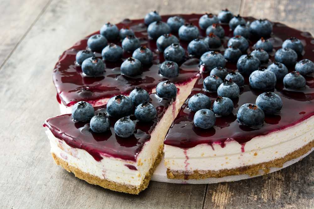 cheesecake mirtilli