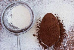 cacao e zucchero a velo