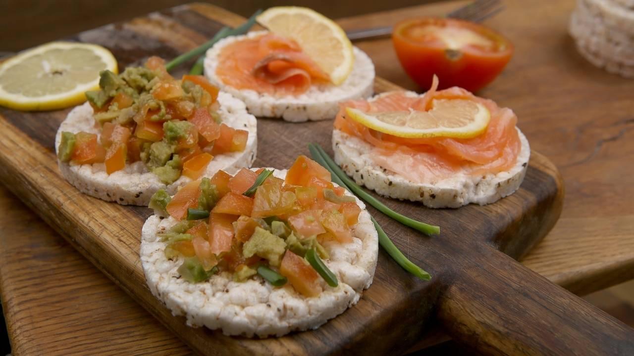 gallette salmone avocado