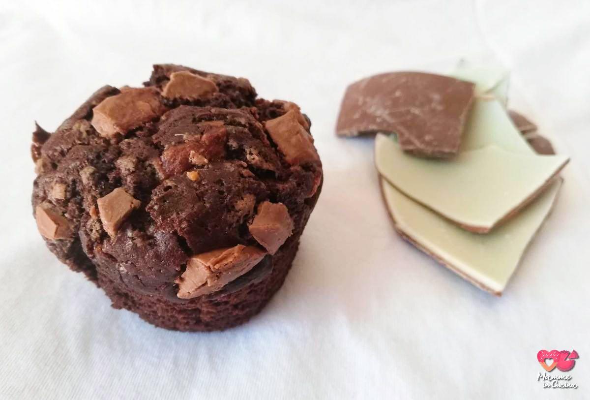 muffin con cioccolata avanzata