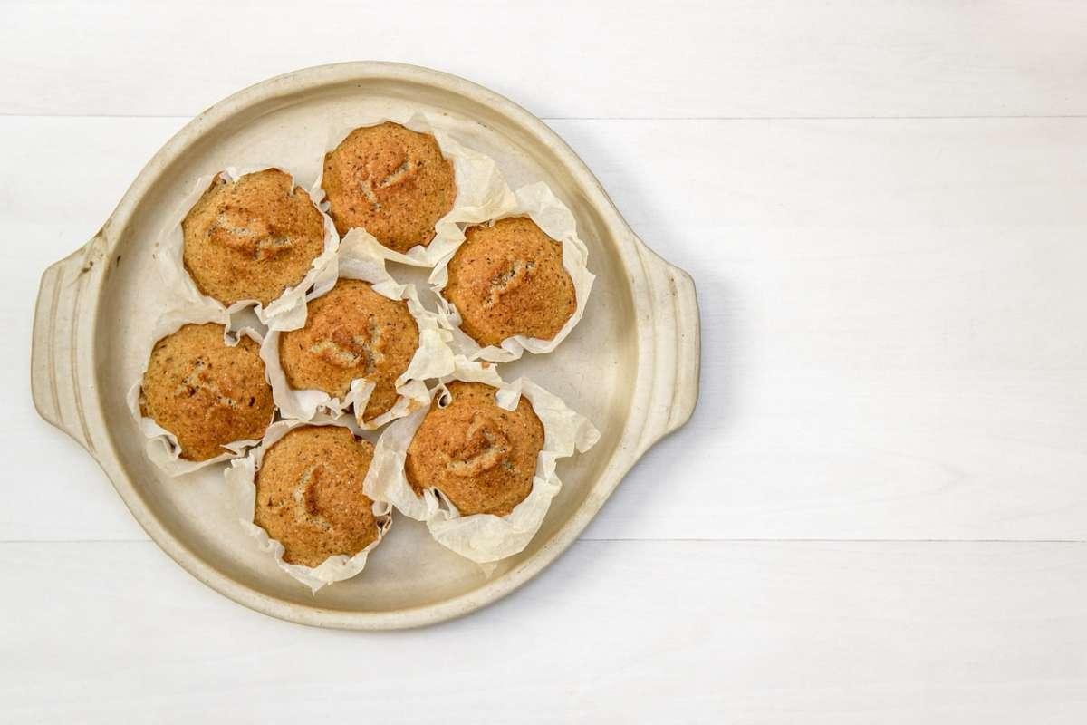 muffin con pirottini di carta da forno