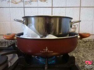 pollo cottura con peso