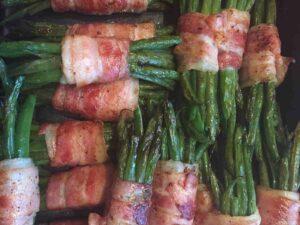 fagiolini in padella con bacon