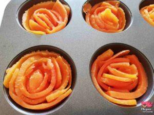 rose di carote nello stampo