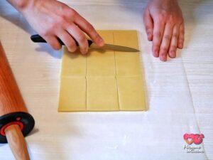 quadrati di pasta frolla