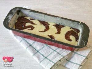 Plumcake bicolore doppio cioccolato