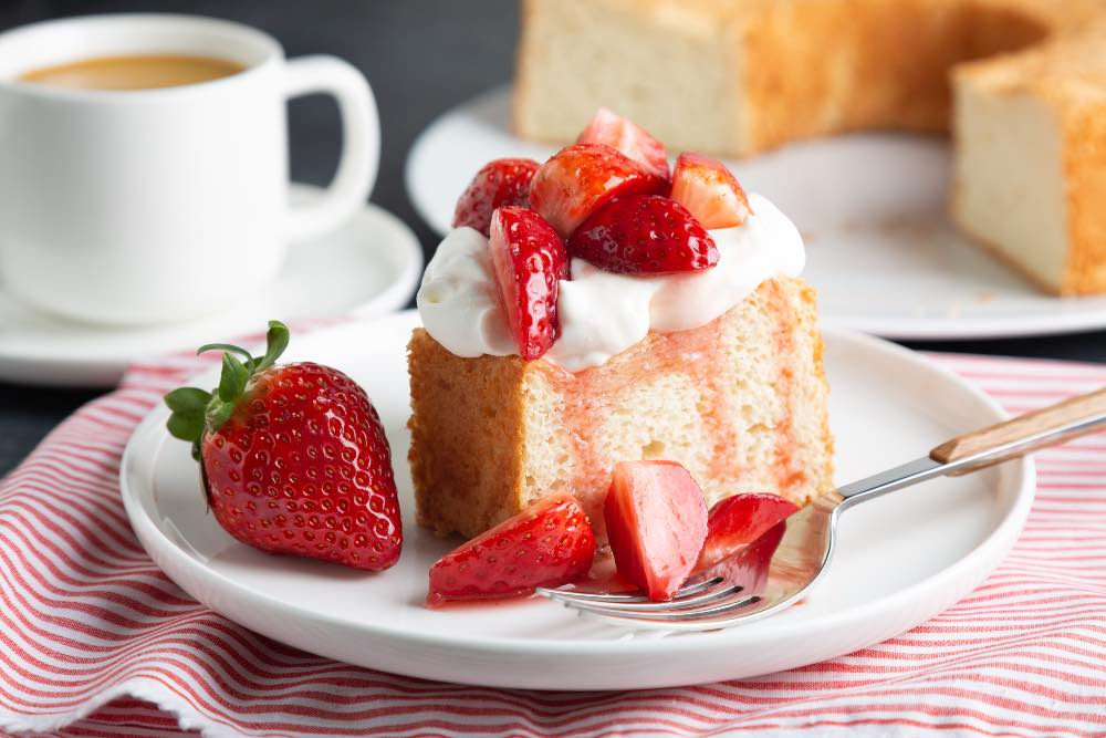 Torta fragole e latte senza l'aggiunta di burro