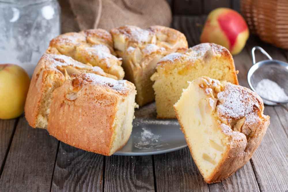 torta light morbidissima con 2 mele