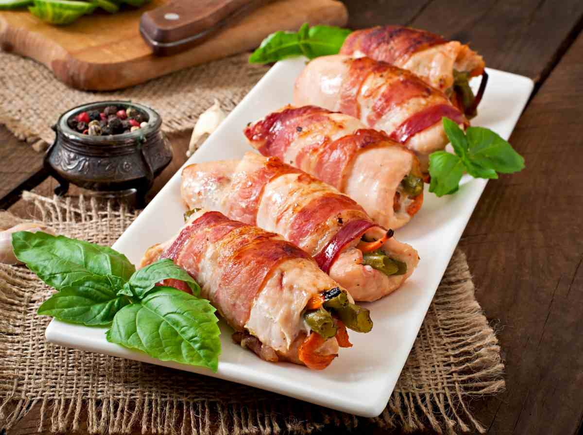 bacon fagiolini involtini