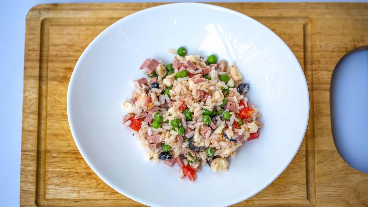 insalata di riso cremosa