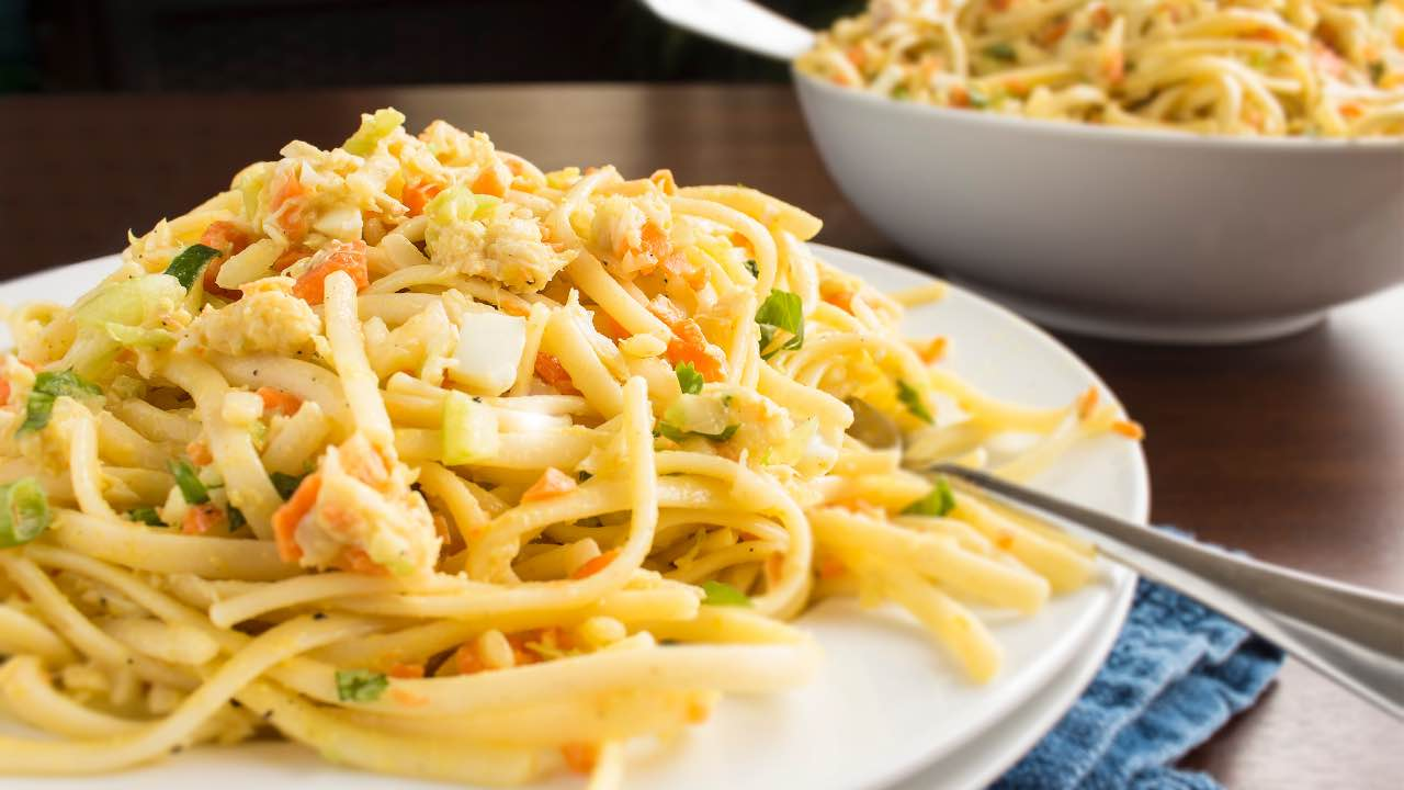 ricetta pasta con granchio