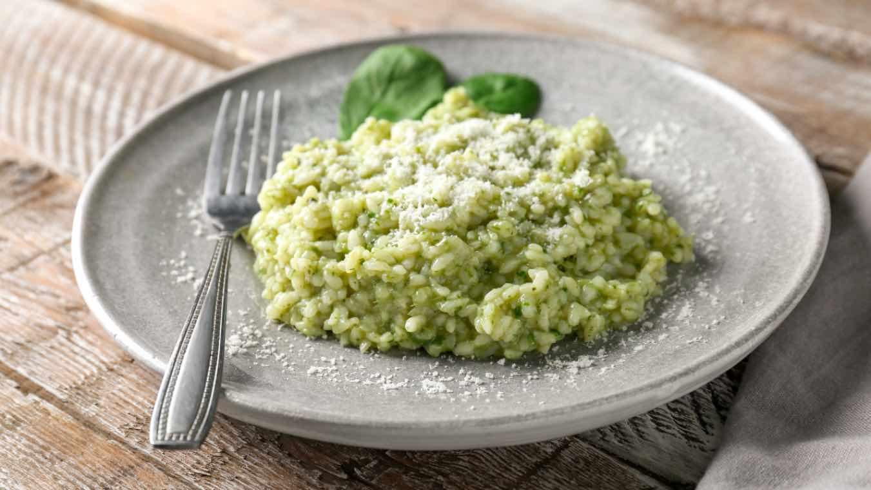 ricetta risotto con spinaci