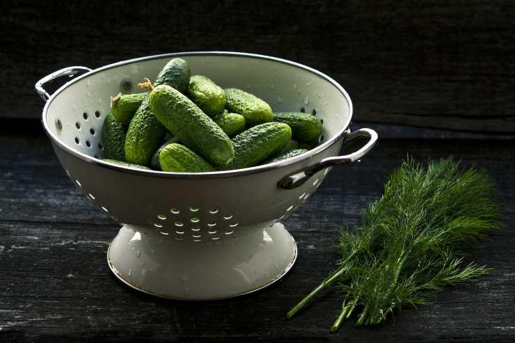 Scolapasta con verdure
