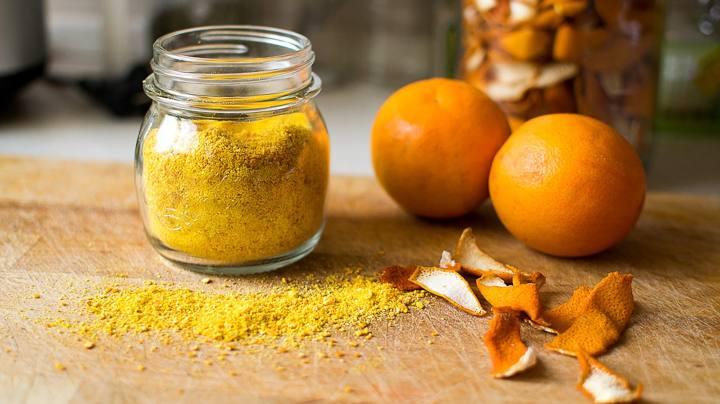 buccia polvere arancia
