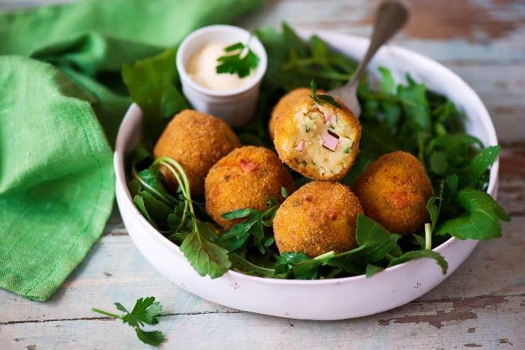 Crocchette di patate con mortadella