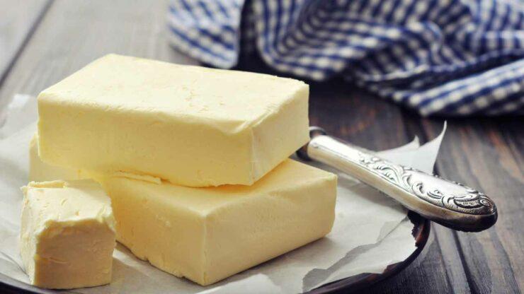 burro su piatto