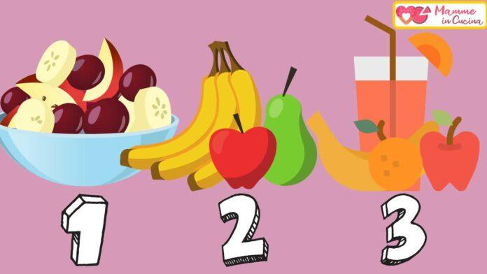 test come mangi frutta