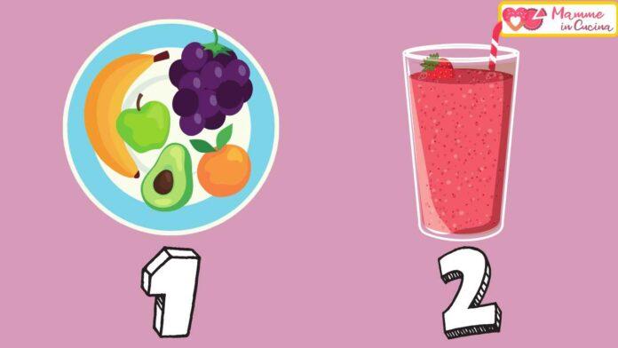 frullato e frutta